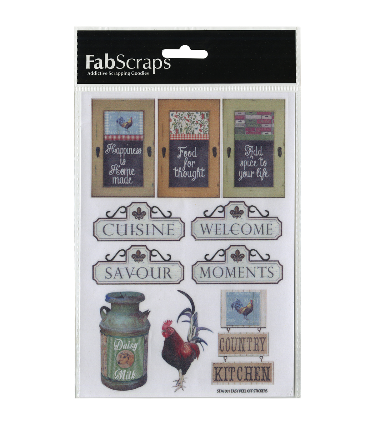 FabScraps Country Kitchen Stickers-Signage