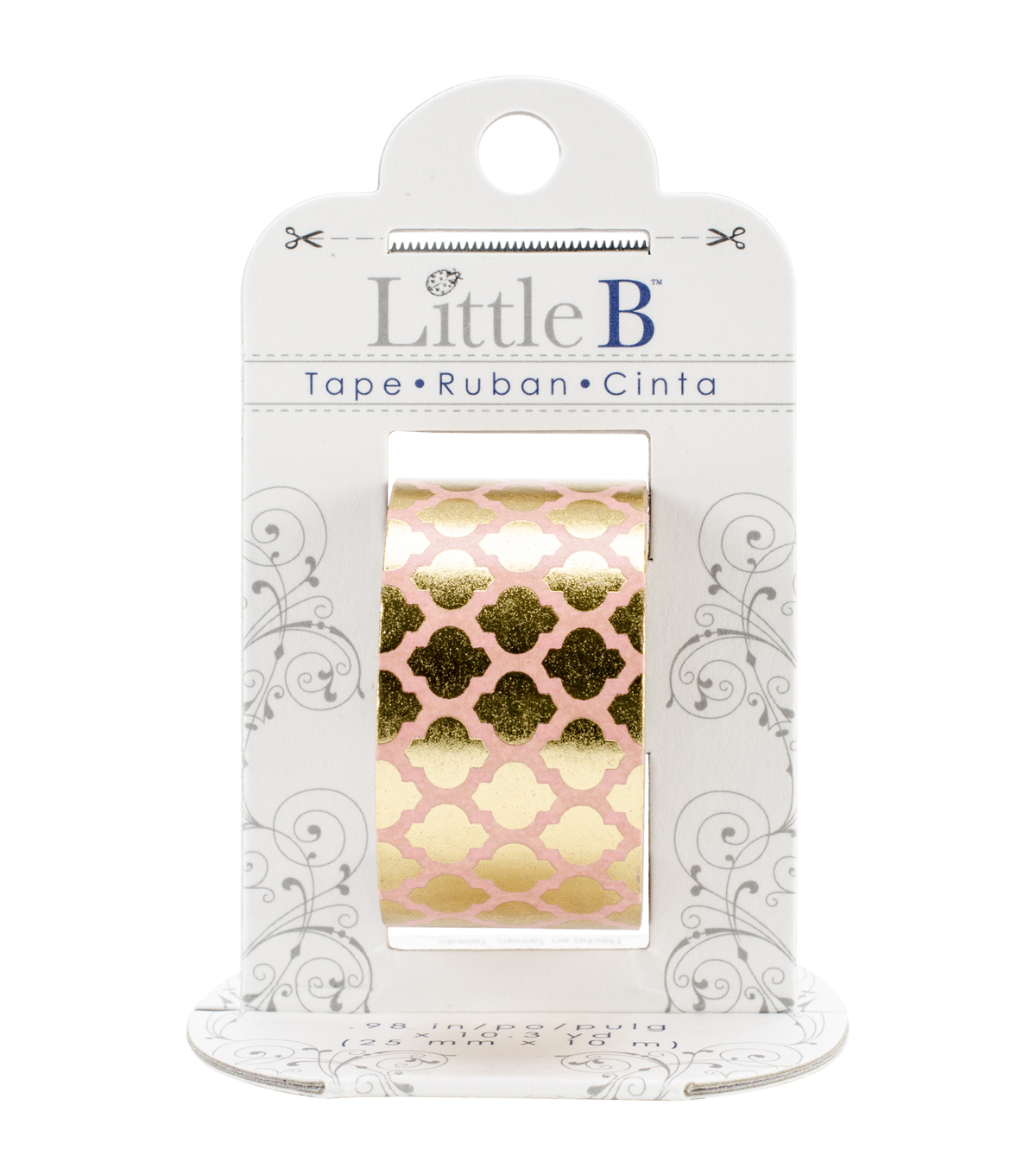Little B Foil Tape 25mmX10m-Gold Moroccan Window