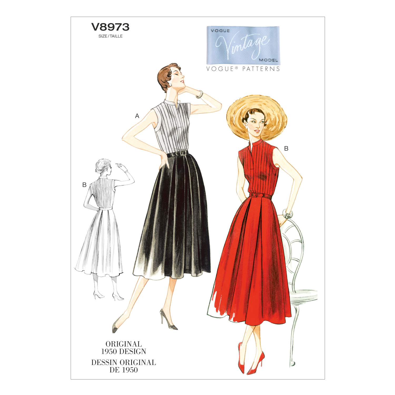 Vogue Patterns Misses Dress-V8973