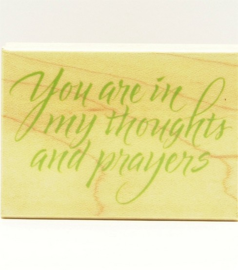 Hero Arts Rubber Stamp-Prayers and Thoughts