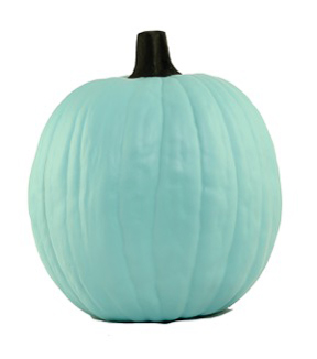 Fun-Kins™ Halloween 12\u0027\u0027 Artificial Carvable Pumpkin-Teal