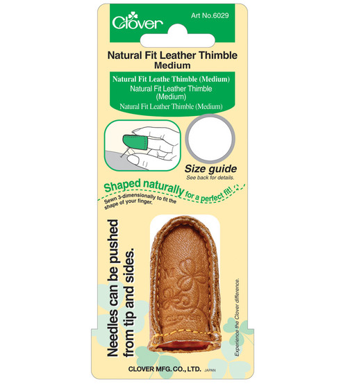 Natural Fit Leather Thimble-Medium