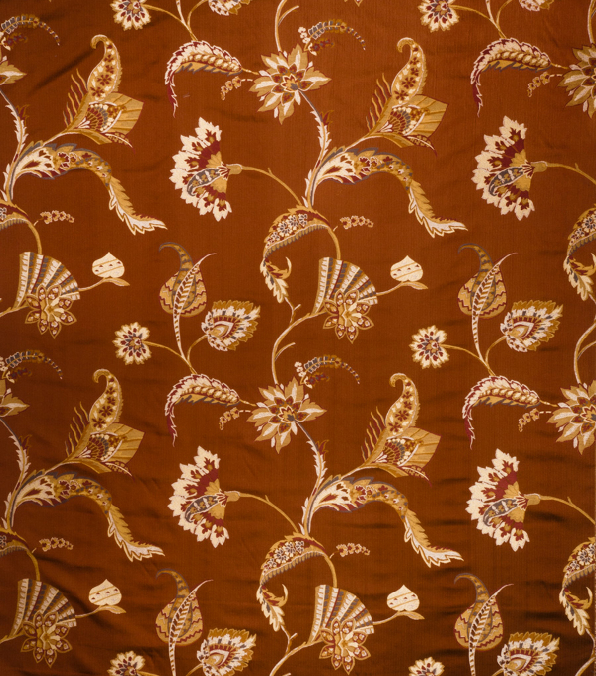 Home Decor 8\u0022x8\u0022 Fabric Swatch-Print Fabric Eaton Square Spellbound Cinnamon