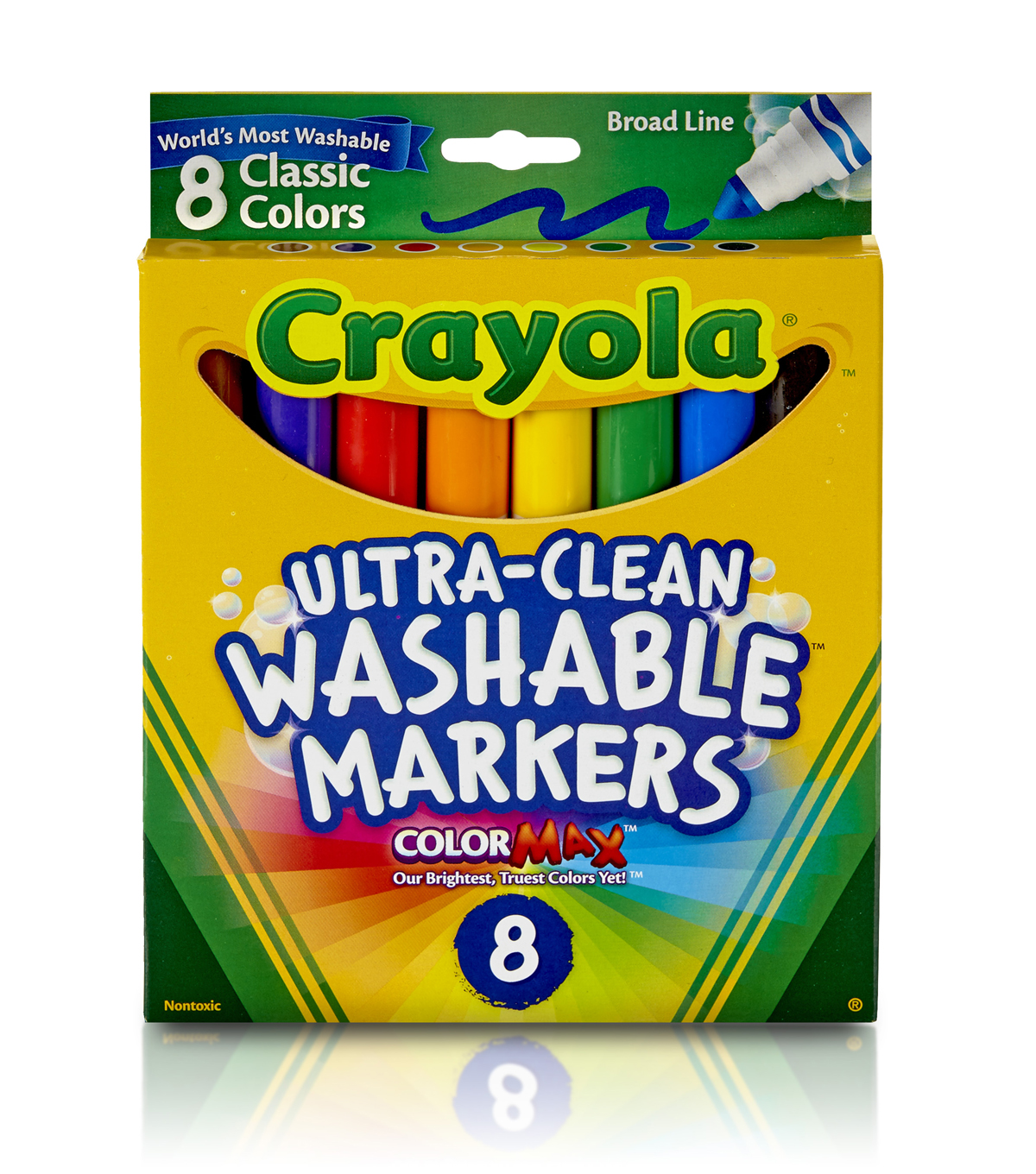 Crayola Broad Line Washable Markers-8PK/Classic Colors