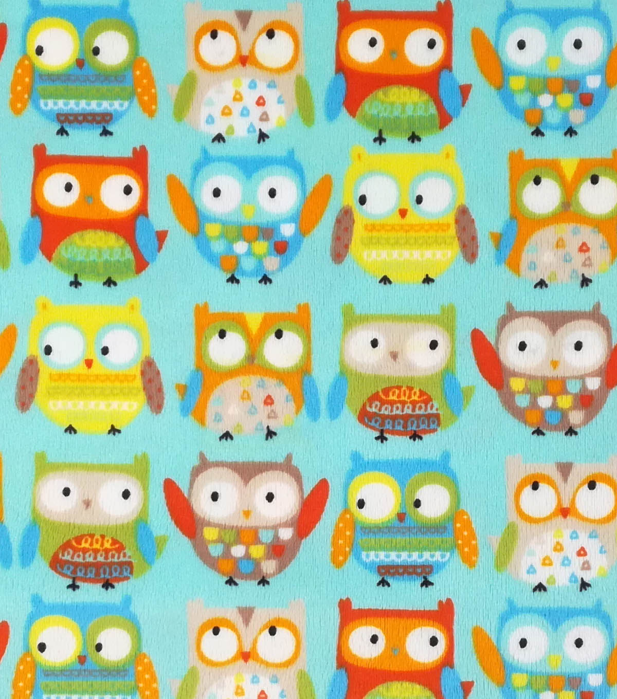"Soft & Comfy Fleece Fabric 57""-Neutral Baby Owl"