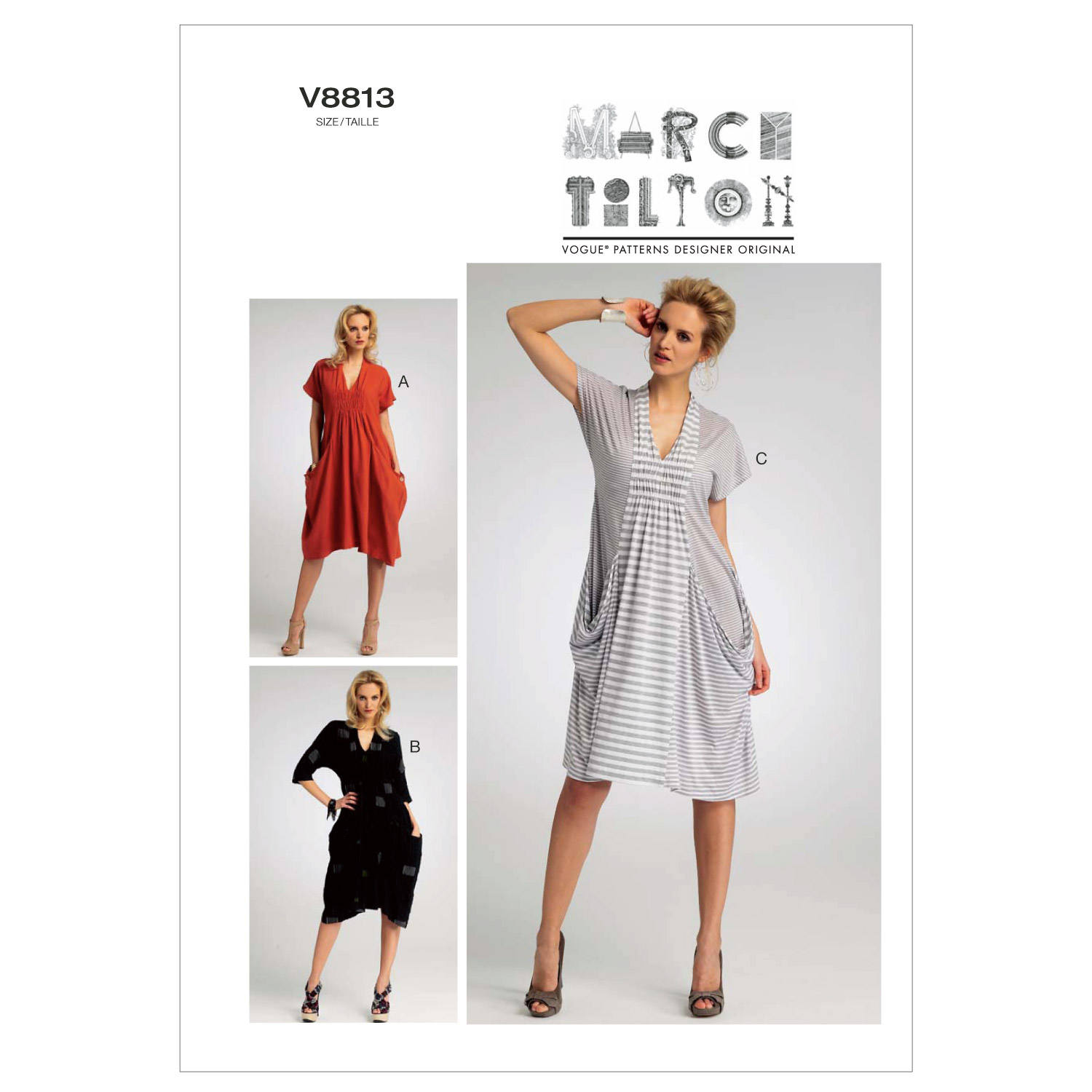 Vogue Patterns Misses Dress-V8813