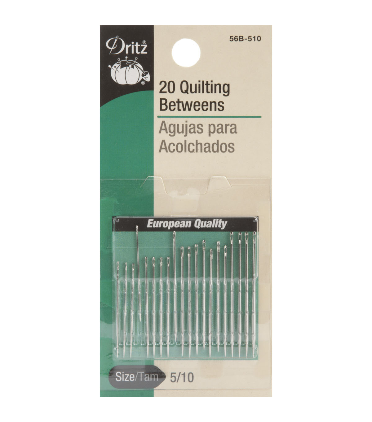 Dritz Quilting Betweens Hand Needles 20pcs Size 5/10