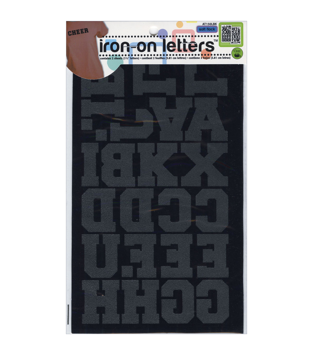 Dritz 1.5\u0027\u0027 Soft Flock Iron On Letters Athletic