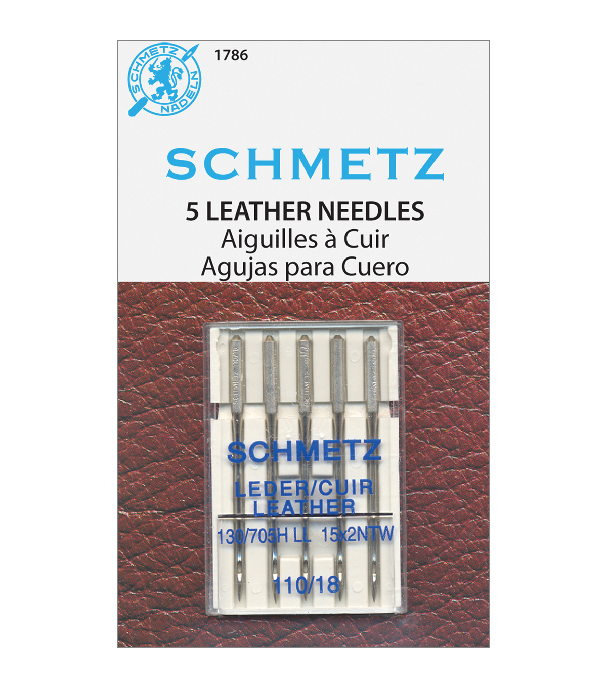 Schmetz Leather Machine Needles 5/Pkg-Size 18/110