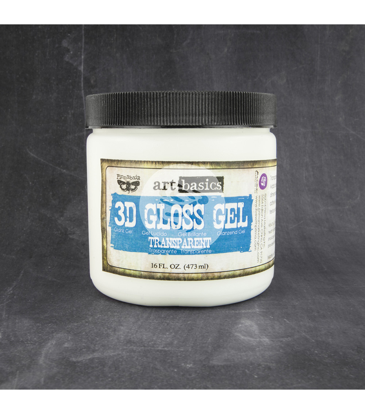 Transparent-Art 3D Gloss Gel 16 Oz