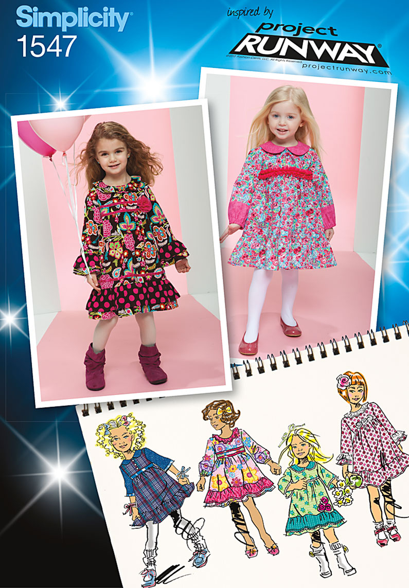 Simplicity Pattern 1547BB 4-5-6-7-8 -Toddlers Dresses