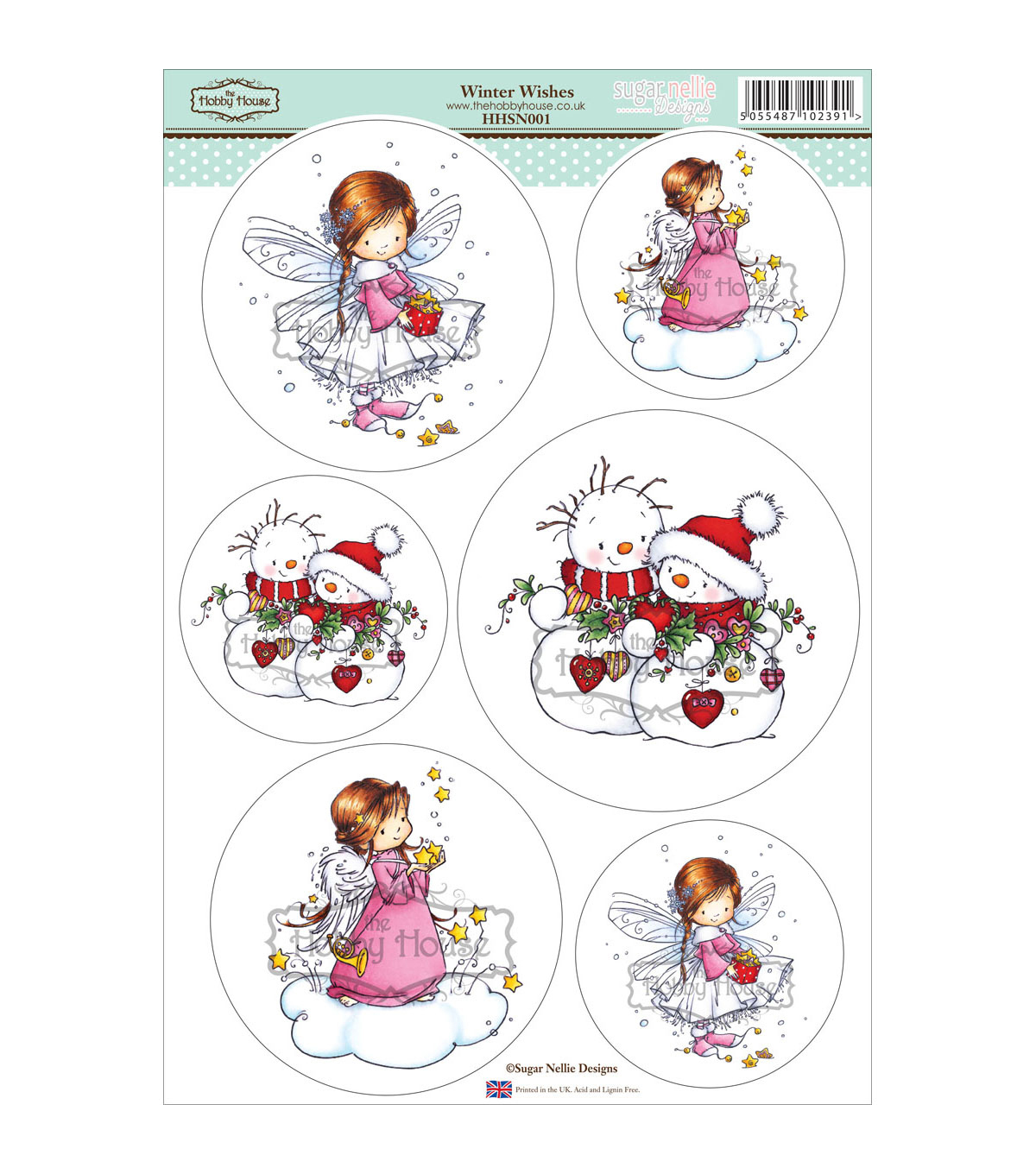 Hobby House Sugar Nellie Topper Sheet 8.5''x12.2''-Winter Wishes