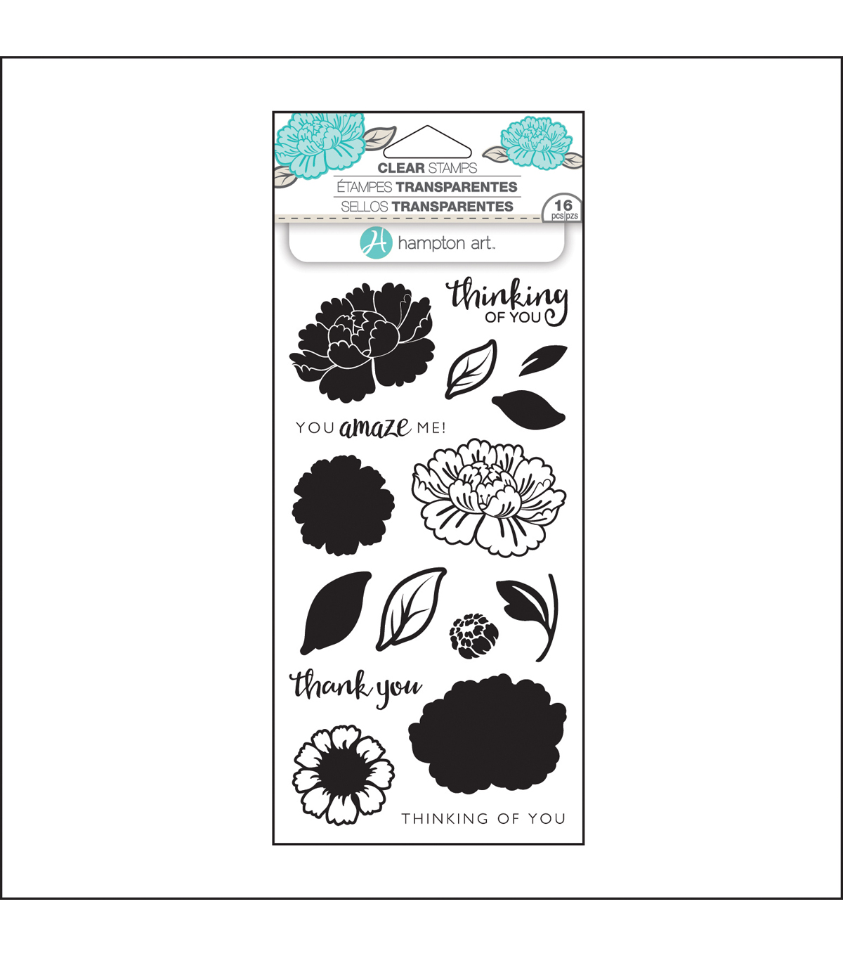 Hampton Art™ Layering Clear Stamp-Flower Amaze