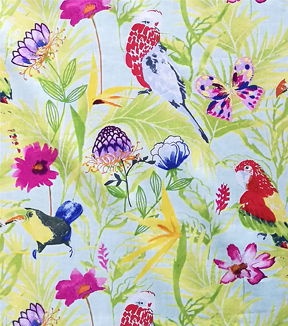 "Cotton Shirting Tropical Fabric 57""-Bird Life"