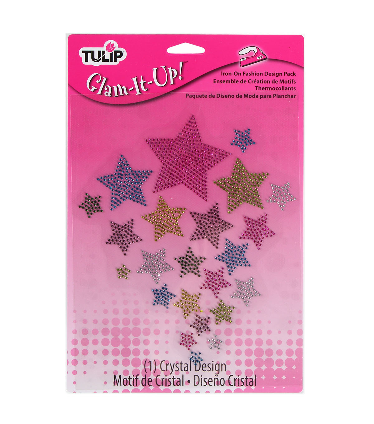 Tulip Glam-It-Up! Iron-On Fashion Designs Multi Stars