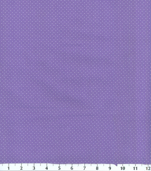 Keepsake Calico™ Cotton Fabric 44\u0022-Purple and Dots
