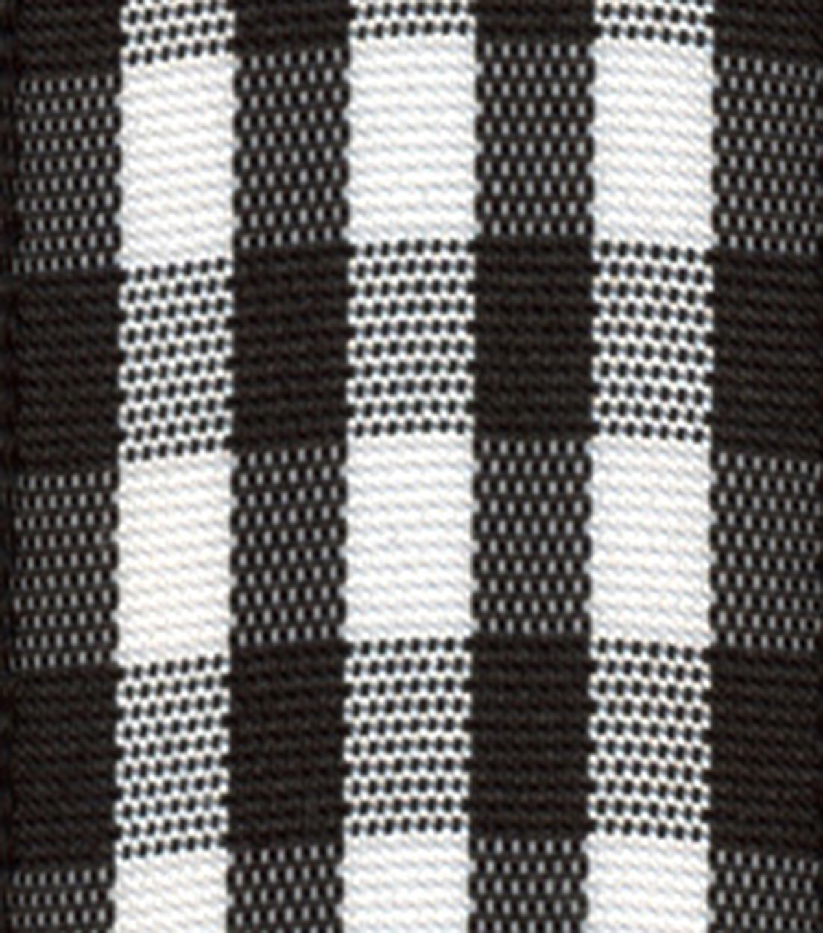 Offray 7/8\u0022x9\u0027 Taffeta Gingham Checks and Plaids Woven Ribbon-Black