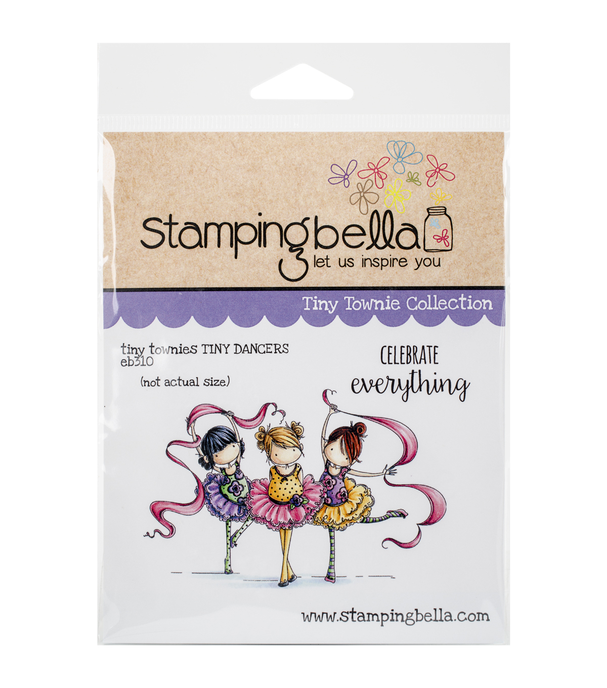 Stamping Bella Cling Rubber Stamp-Tiny Townie Dancers Lia, Zia & Pia