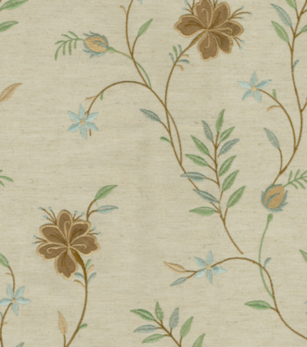 "Waverly Upholstery Fabric 55""-Lyndhurst Embroidery/Glacier"