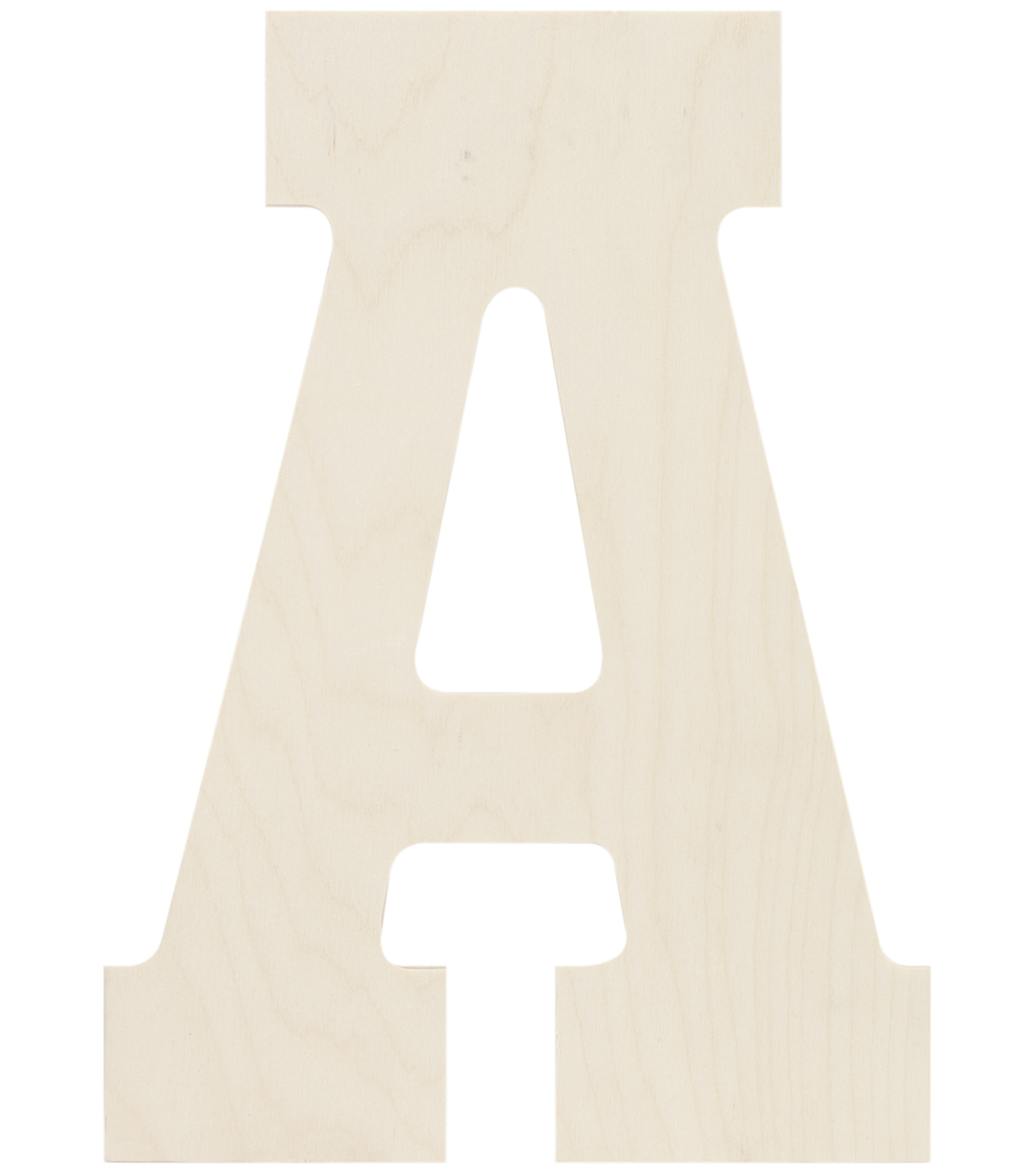 Baltic Birch Collegiate Font Letters & Numbers 13.5\u0022
