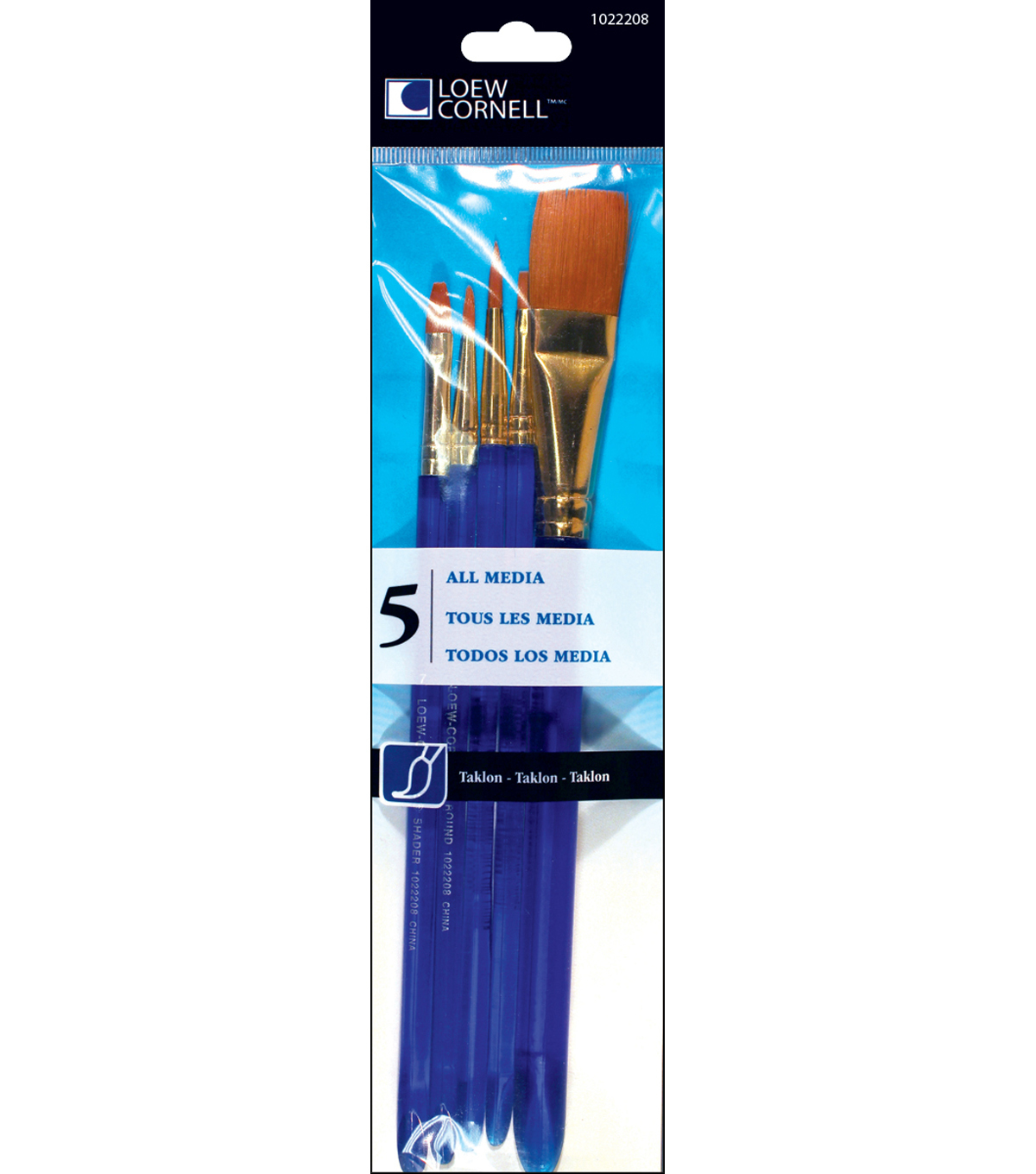 Taklon Craft Brush Set-5/Pk