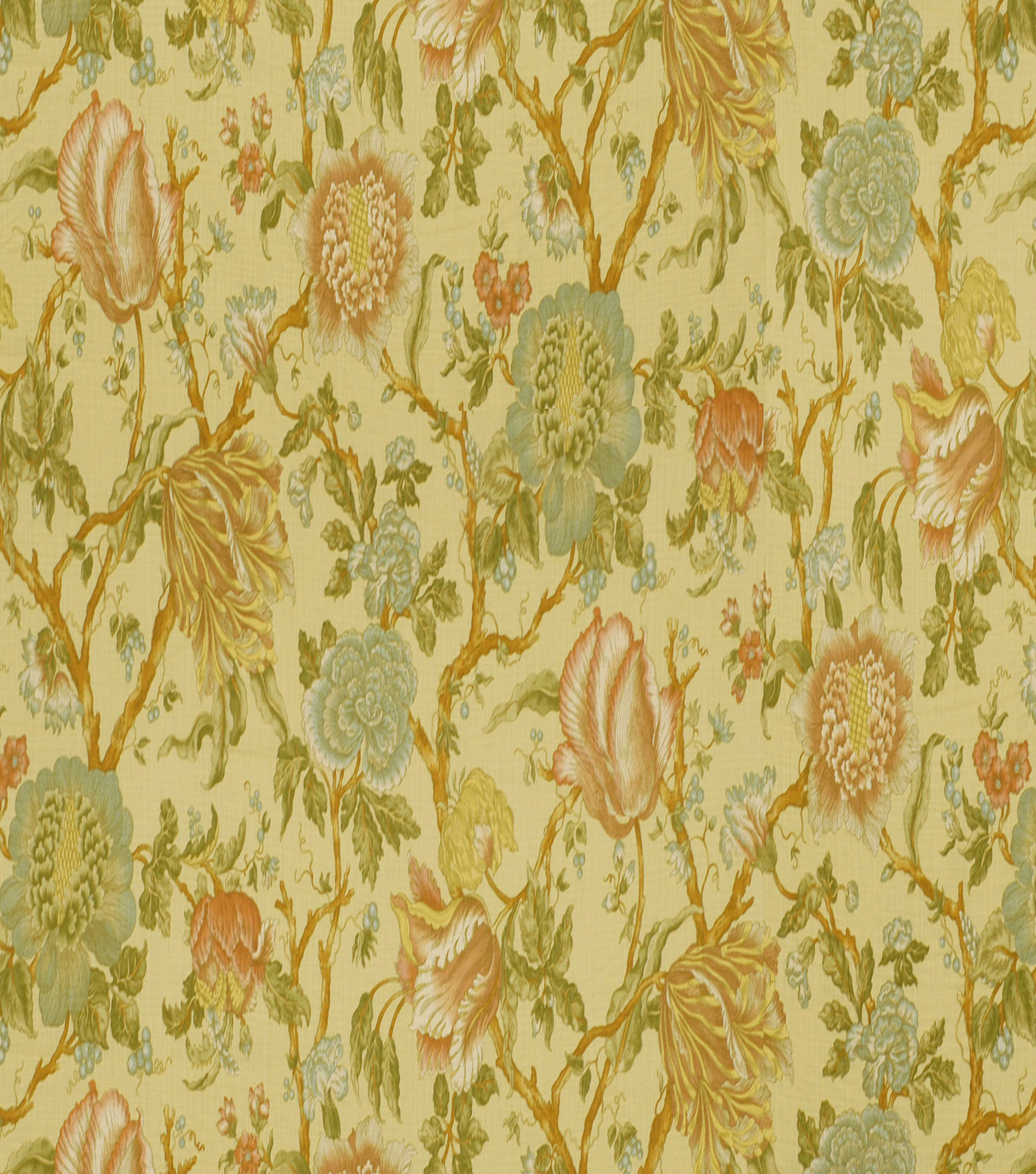 Home Decor 8\u0022x8\u0022 Fabric Swatch-Print Fabric Robert Allen Cortlandt Cornsilk