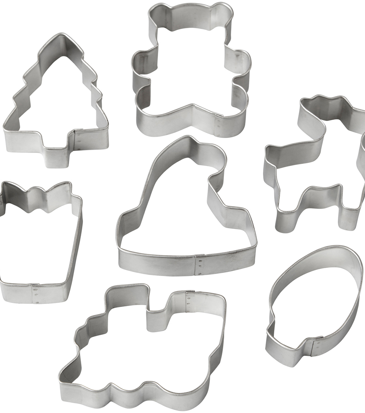 Wilton® Metal Cookie Cutter Set-Santa\u0027s Workshop