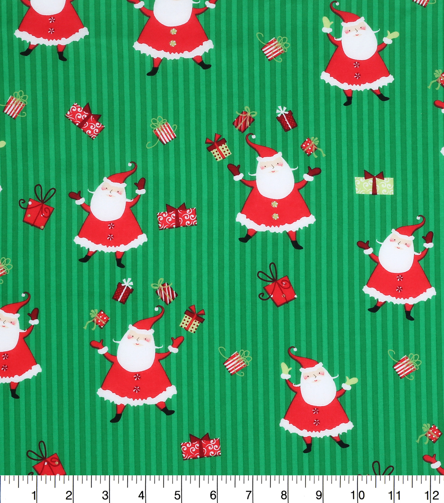 Keepsake Calico™ Holiday Cotton Fabric 43\u0022-Santa and Presents