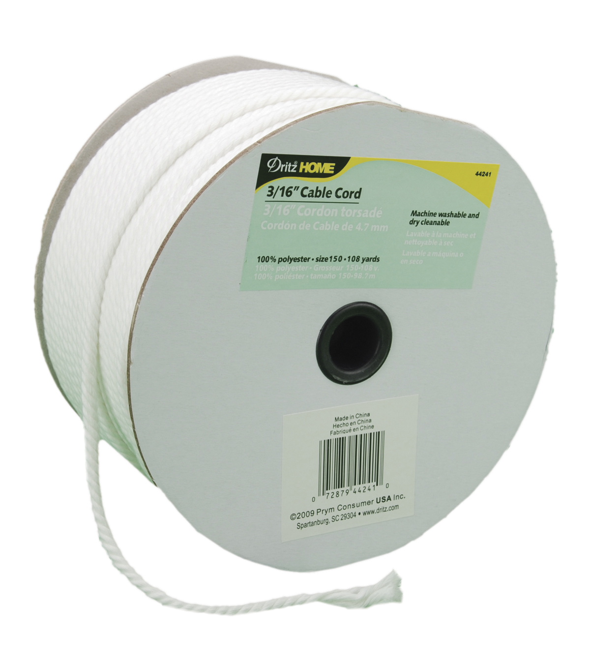Dritz Cable Cord 3/16\u0022X108yd-White