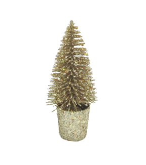 Maker\u0027s Holiday Small Sisal Tree-Gold