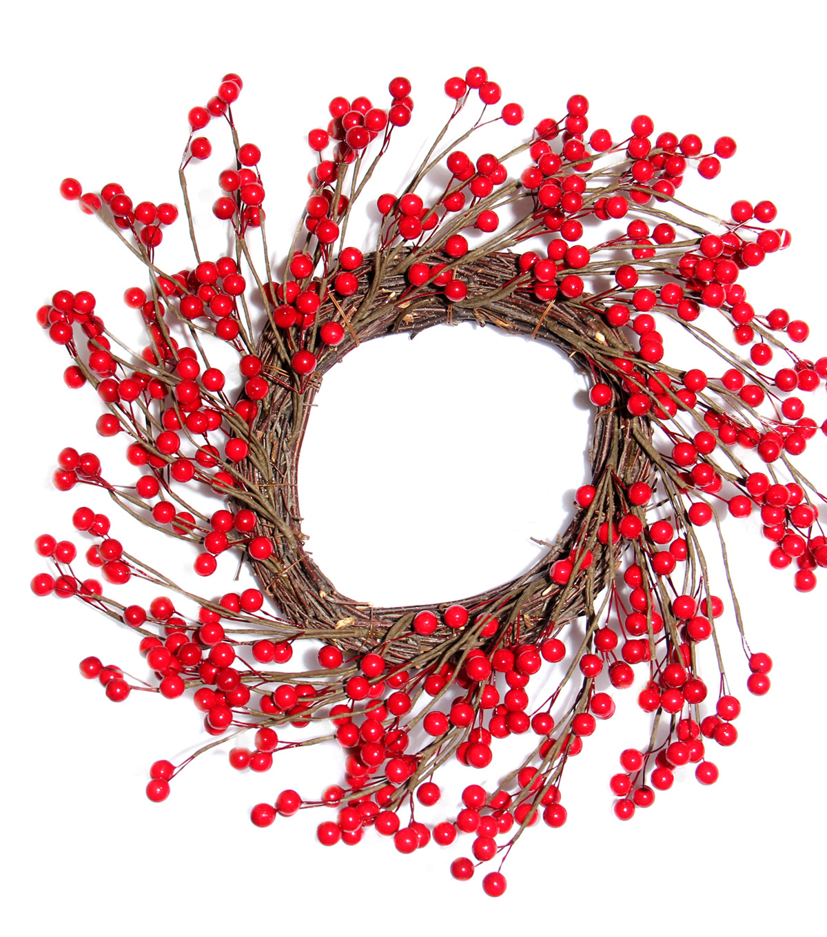 Blooming Holiday 17'' Berry Wreath-Red