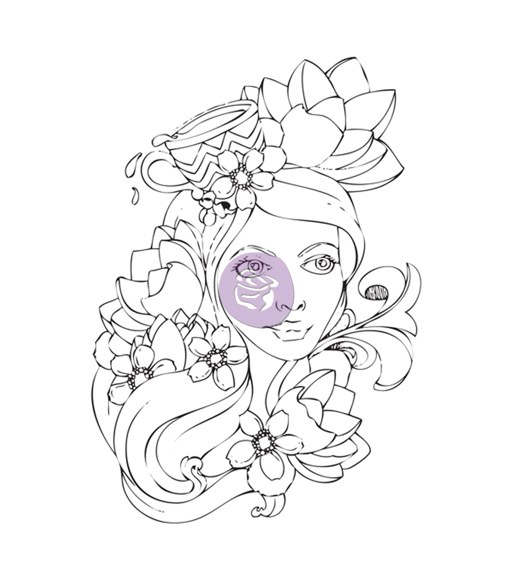 Prima Marketing Bloom Girl Paige Cling Rubber Stamps