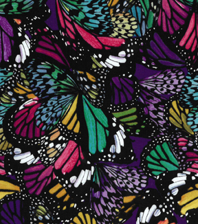 Modern Cotton Fabric 43\u0027\u0027-Abstract Butterfly