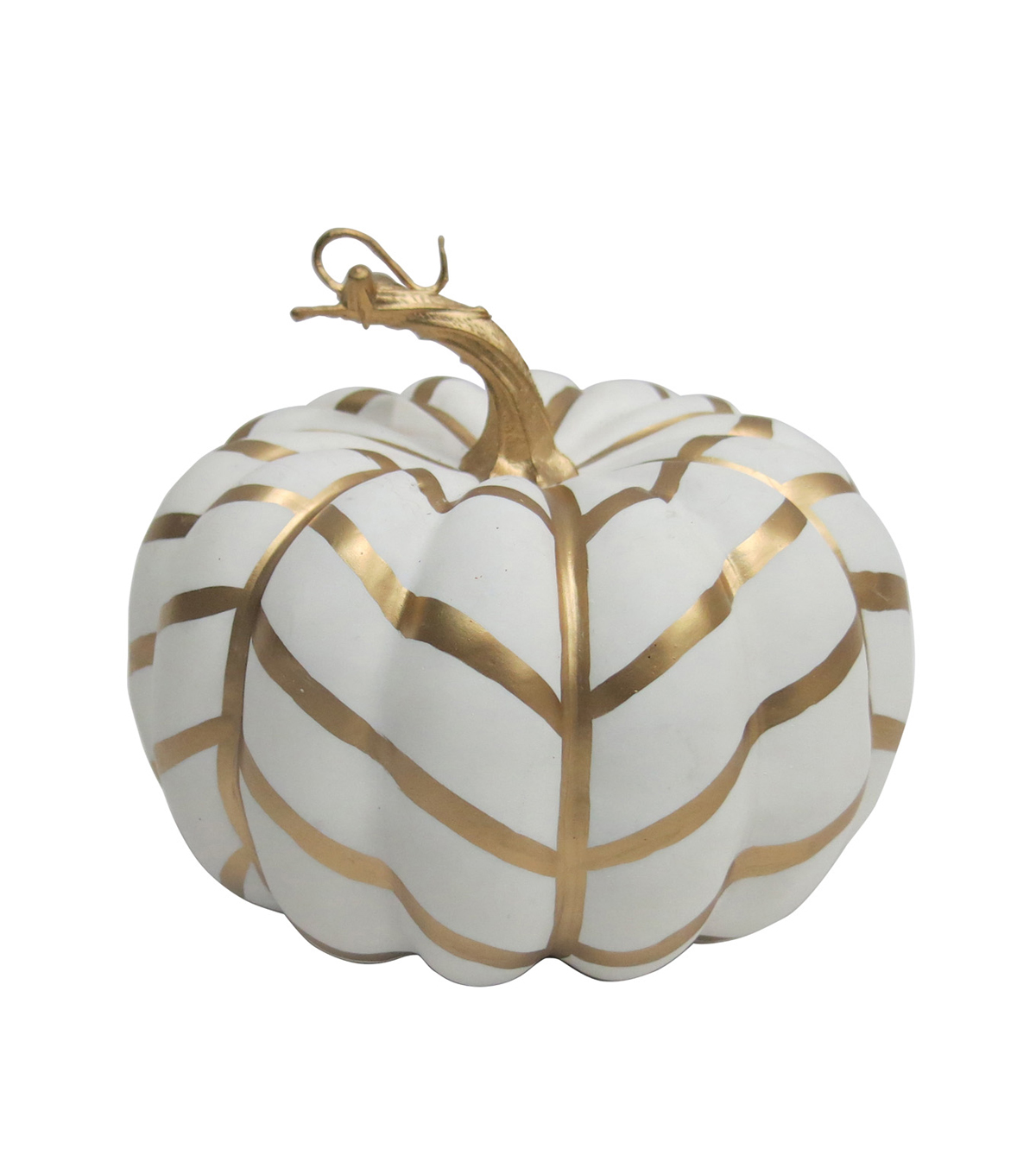 Pumpkin Boutique Halloween Small Pumpkin-Gold Graphic Stripe