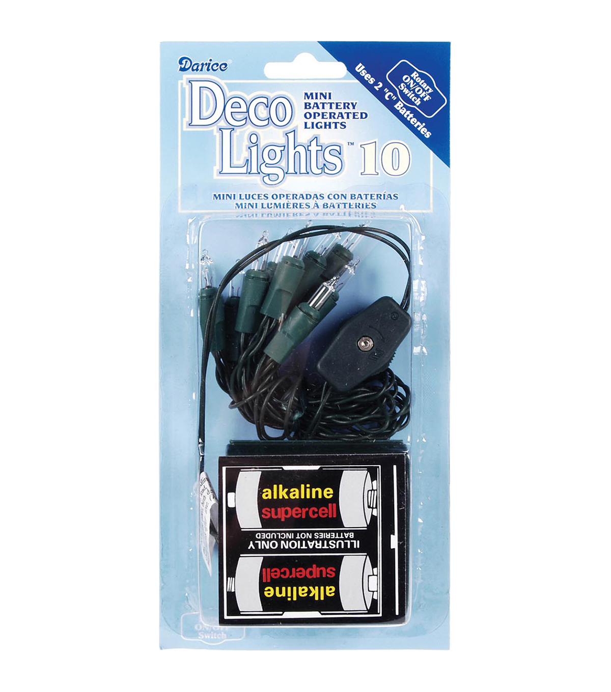Darice® DecoLights 10 Clear Bulbs Light Set-Green Cord