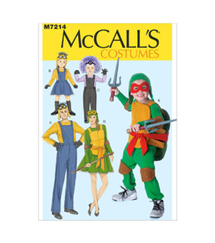 McCall's Pattern M7214-Adults'/Children's/Boys'/Girls' Character Costumes