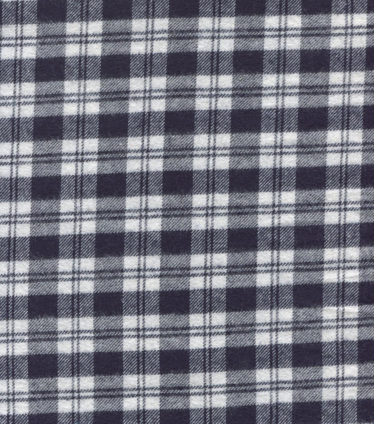 Flannel Shirting Fabric 41\u0022-Blue and White