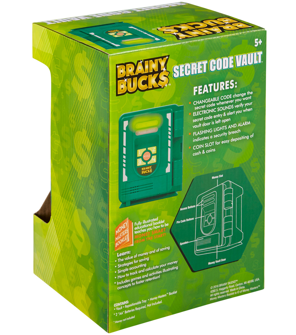 Brainy Bucks Secret PIN Vault