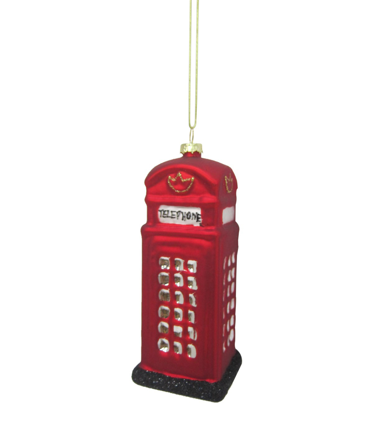 Maker\u0027s Holiday Christmas Telephone Booth Ornament