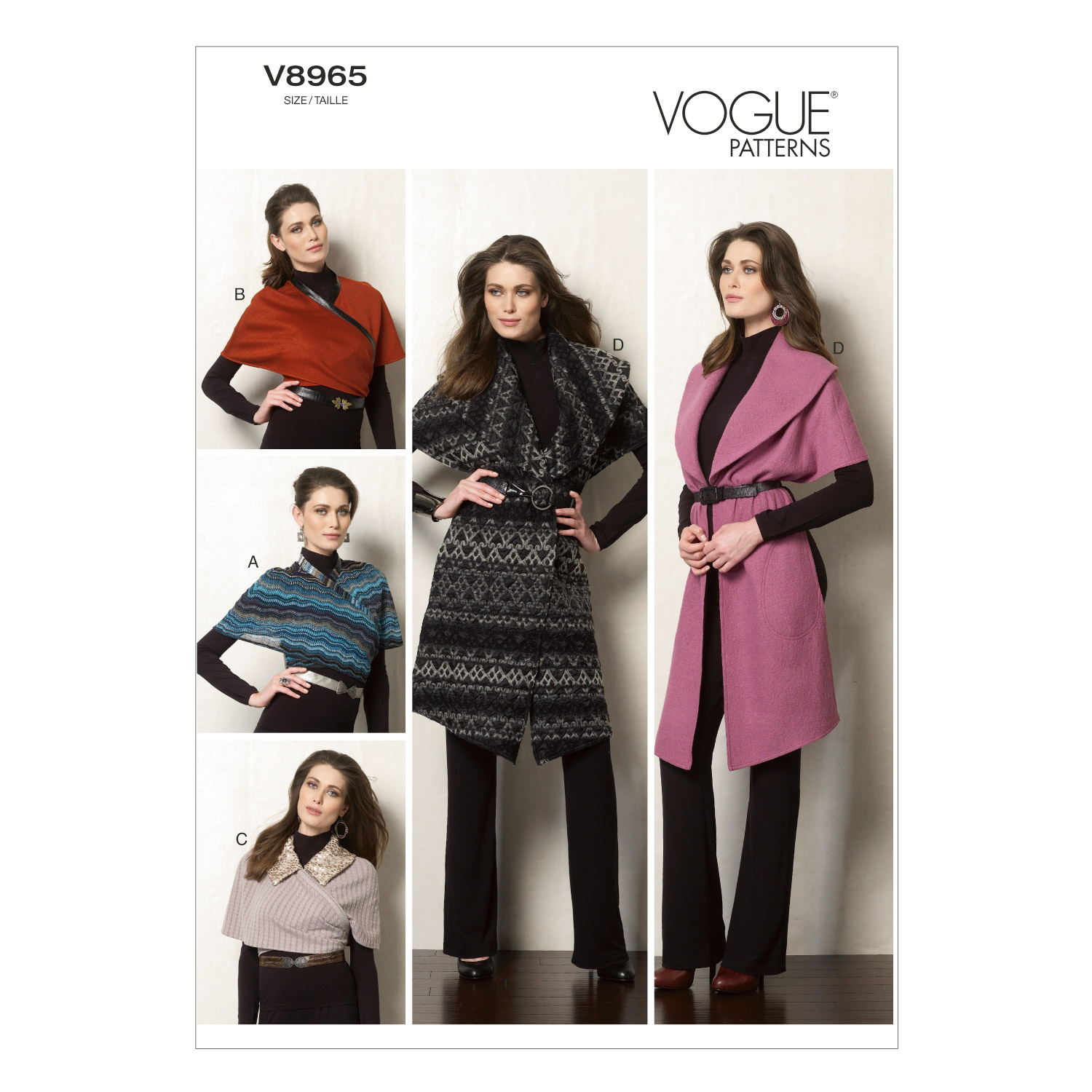 Mccall Pattern V8965 L-Xl -Vogue Pattern