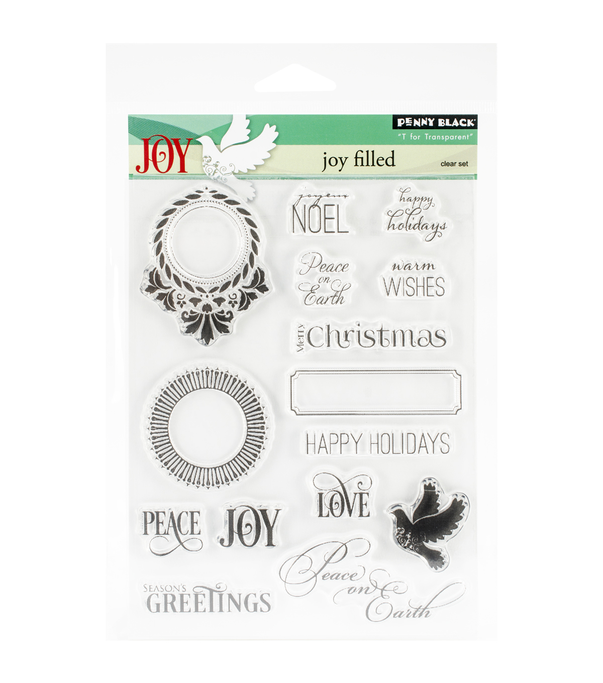 Penny Black Jolly Filled Clear Stamps