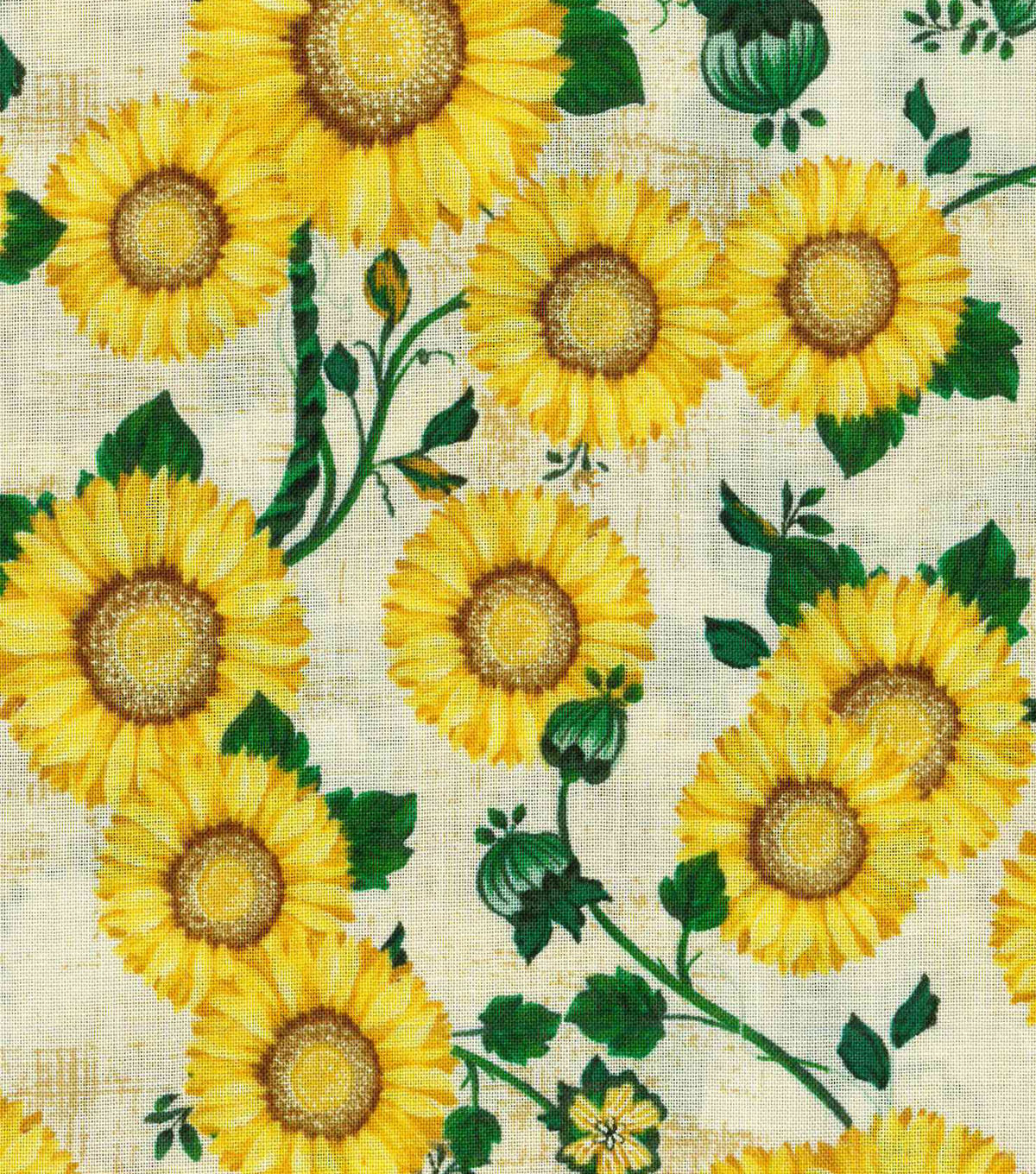 Harvest Cotton Fabric 43\u0022-Sunflower Patch