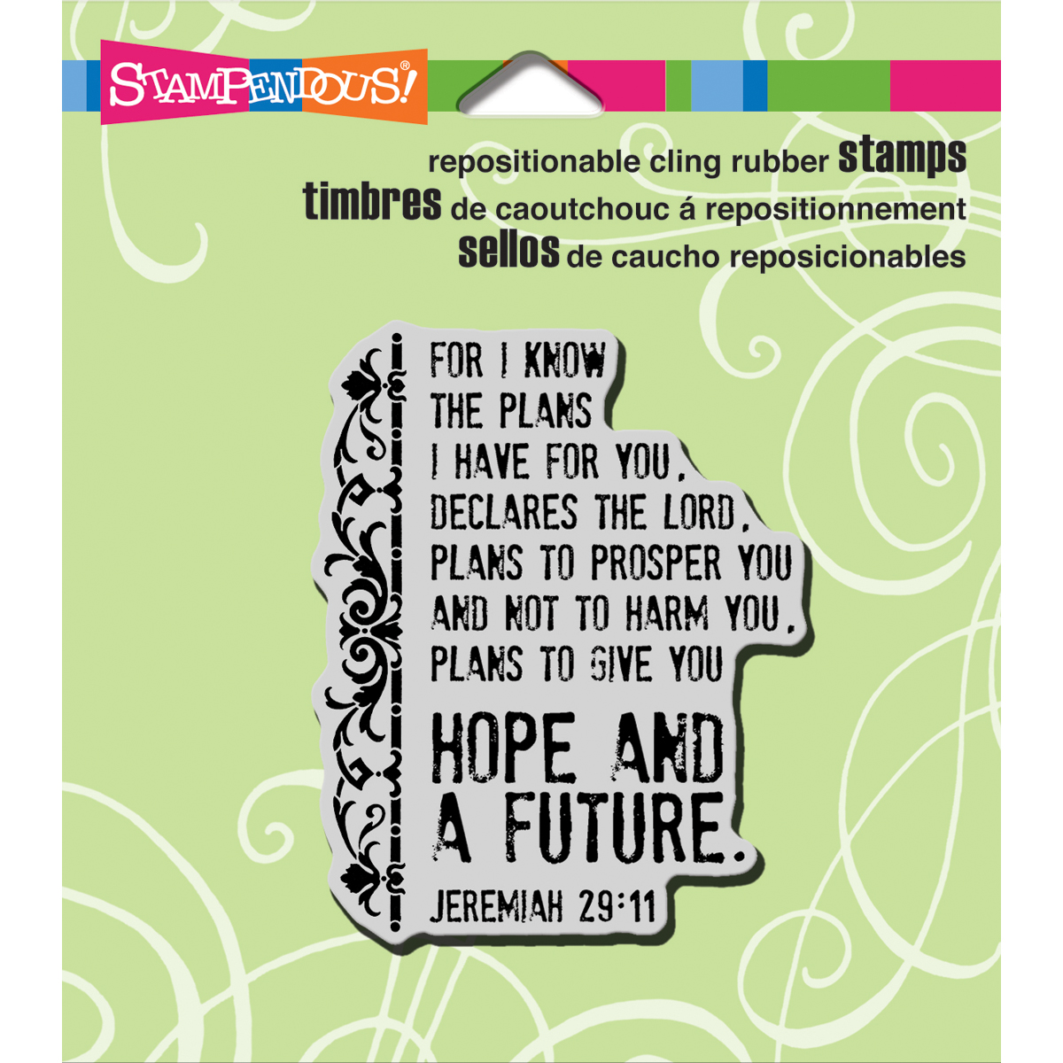 Stampendous Cling Rubber Stamp Future Verse