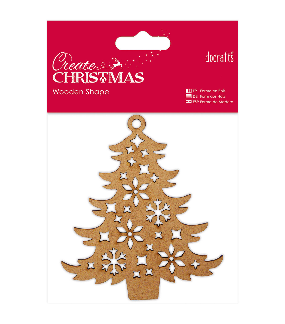 Papermania Create Christmas Wooden Shape-Decorative Tree