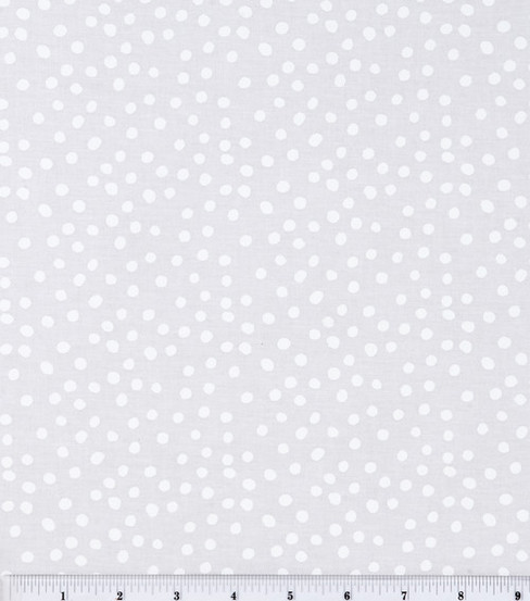 Keepsake Calico™ Cotton Fabric 44\u0027\u0027-White Irregular Dots on White