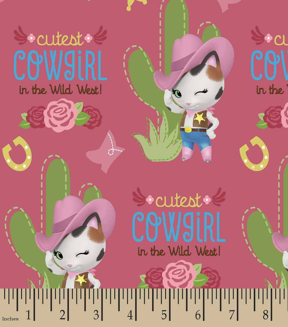 Disney® Sheriff Callie\u0027s Wild West Print Fabric