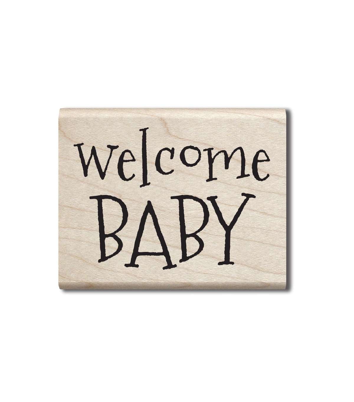 Hampton Art Wood Stamp-Welcome Baby