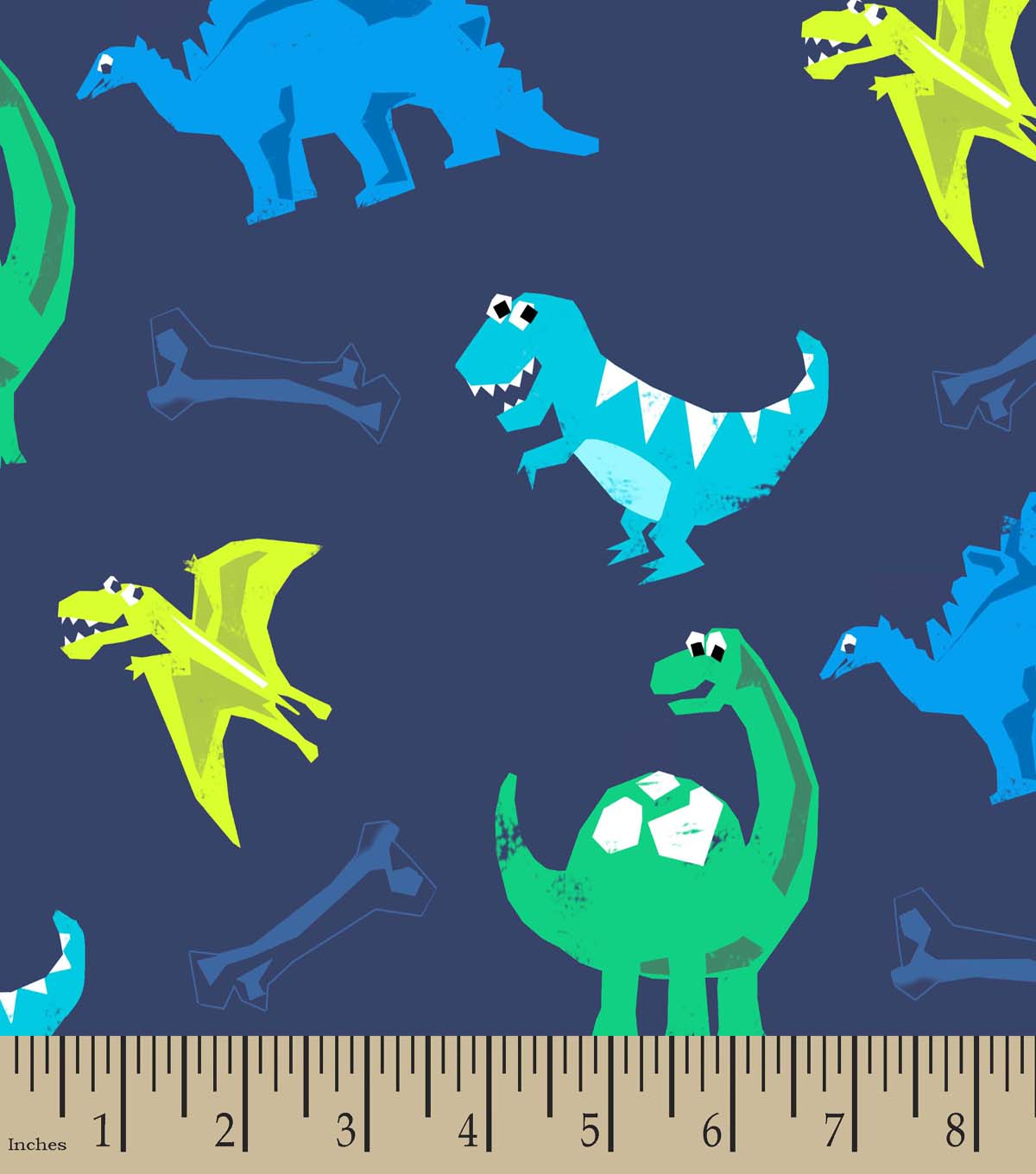 Friendly Dinosaurs Print Fabric