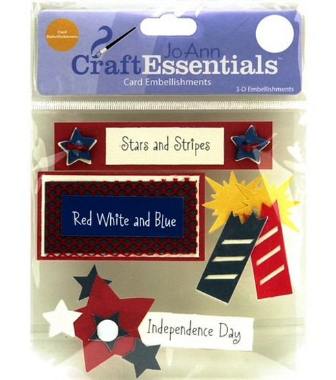 Craft Essentials Red, White & Blue Embellishment