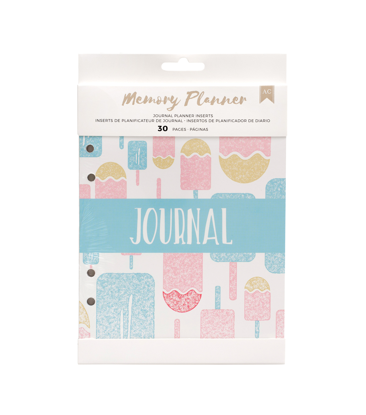 American Crafts 30 Pack Memory Planner Inserts-Journal